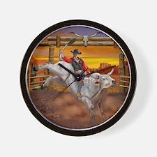 Ride 'em Cowboy Wall Clock