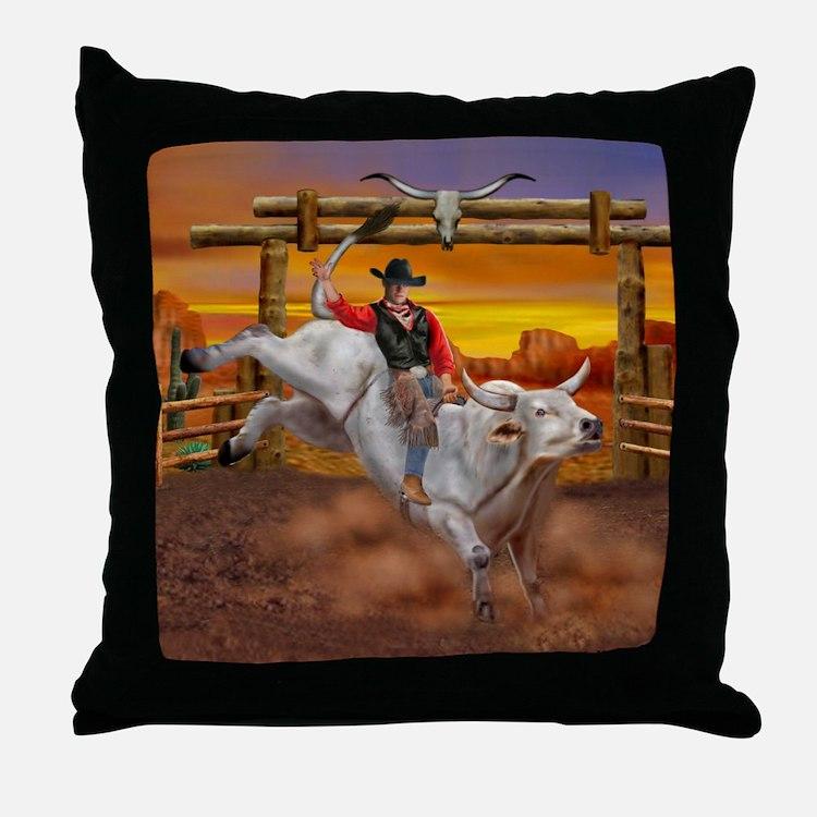 Ride 'em Cowboy Throw Pillow
