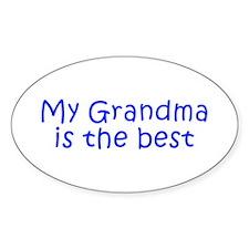 My Grandma is the best-Kri blue 350 Decal