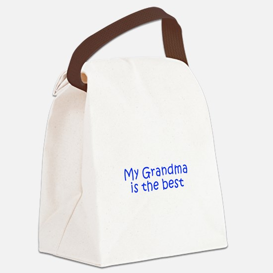 My Grandma is the best-Kri blue 350 Canvas Lunch B