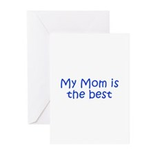 My Mom is the best-Kri blue 300 Greeting Cards