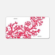 Funny Coral Aluminum License Plate