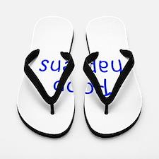 Poop happens-Kri blue 300 Flip Flops