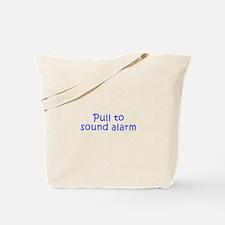 Pull to sound alarm-Kri blue 300 Tote Bag