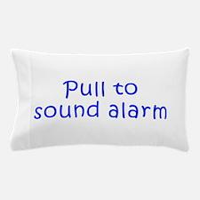 Pull to sound alarm-Kri blue 300 Pillow Case