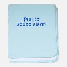 Pull to sound alarm-Kri blue 300 baby blanket