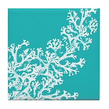 Cute Aqua Tile Coaster
