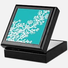 Cute Aqua Keepsake Box