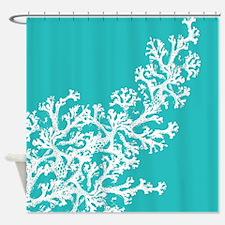 Unique Aqua Shower Curtain