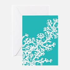 Cute Aqua Greeting Card