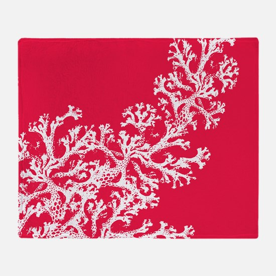 Funny Coral Throw Blanket