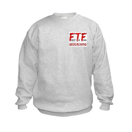 FTF Geocaching Pocket Image Kids Sweatshirt