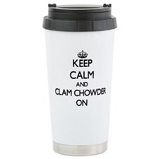 Keep Calm and Clam Chow Travel Mug