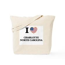 I love Charlotte North Carolina Tote Bag