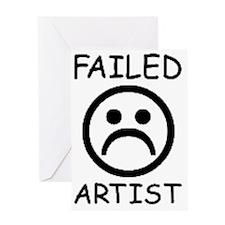 Failed Artist Greeting Card