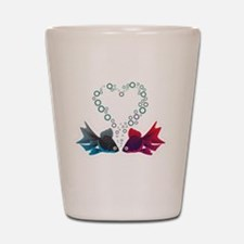 And they call it fishy love. Shot Glass