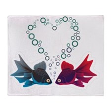 And they call it fishy love. Throw Blanket