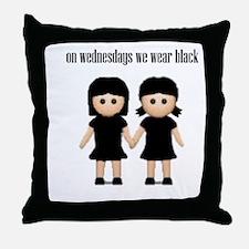 On Wednesdays, We Wear Black. Throw Pillow