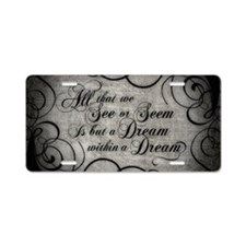 Cute Poem Aluminum License Plate