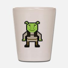 Pixel Shrek Shot Glass