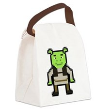 Pixel Shrek Canvas Lunch Bag