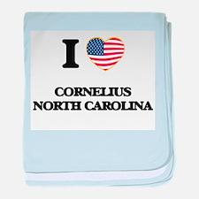 I love Cornelius North Carolina baby blanket