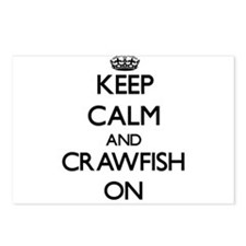 Keep Calm and Crawfish ON Postcards (Package of 8)