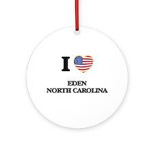 I love Eden North Carolina Ornament (Round)