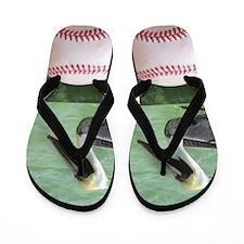 Baseball Pelicans Flip Flops