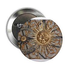 "Astrological clockface 2.25"" Button"
