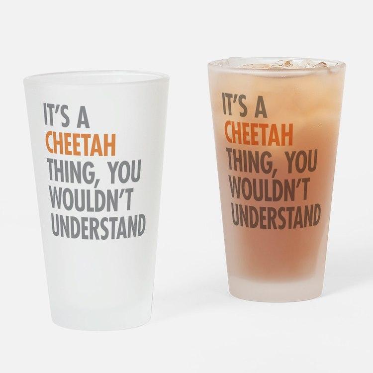 Cheetah Thing Drinking Glass