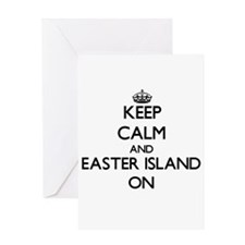 Keep Calm and Easter Island ON Greeting Cards