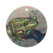 Frog Frond Round Ornament