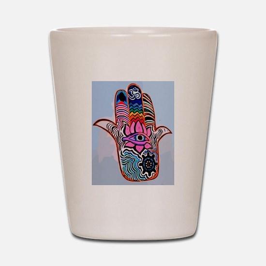 Hamsa With Buddhism  Shot Glass