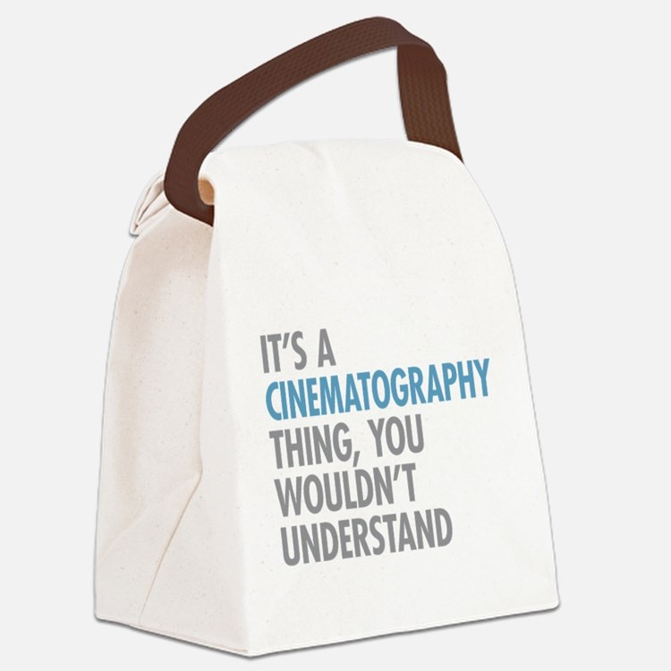 Cinematography Thing Canvas Lunch Bag