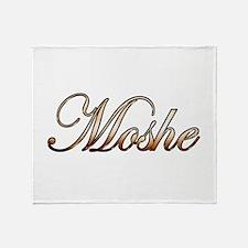 Gold Moshe Throw Blanket