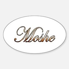 Gold Moshe Decal