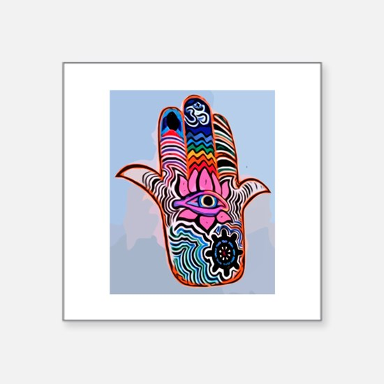 Hamsa With Buddhism Sticker