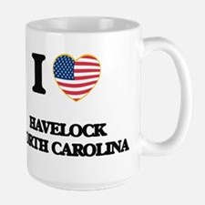 I love Havelock North Carolina Mugs