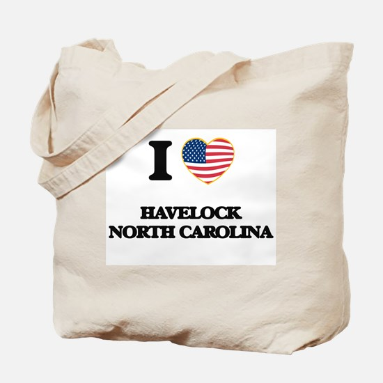 I love Havelock North Carolina Tote Bag