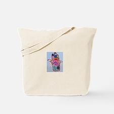 Hamsa With Buddhism Tote Bag
