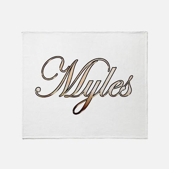 Gold Myles Throw Blanket