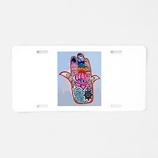 Hamsa With Buddhism Aluminum License Plate