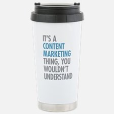 Content Marketing Thing Stainless Steel Travel Mug