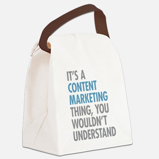 Content Marketing Thing Canvas Lunch Bag