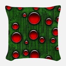 Geek Binary Digital Christmas Woven Throw Pillow