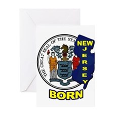 NEW JERSEY BORN Greeting Cards