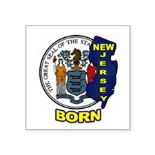 NEW JERSEY BORN Sticker