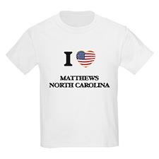 I love Matthews North Carolina T-Shirt
