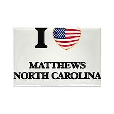 I love Matthews North Carolina Magnets